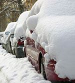 Cars Covered With Snow
