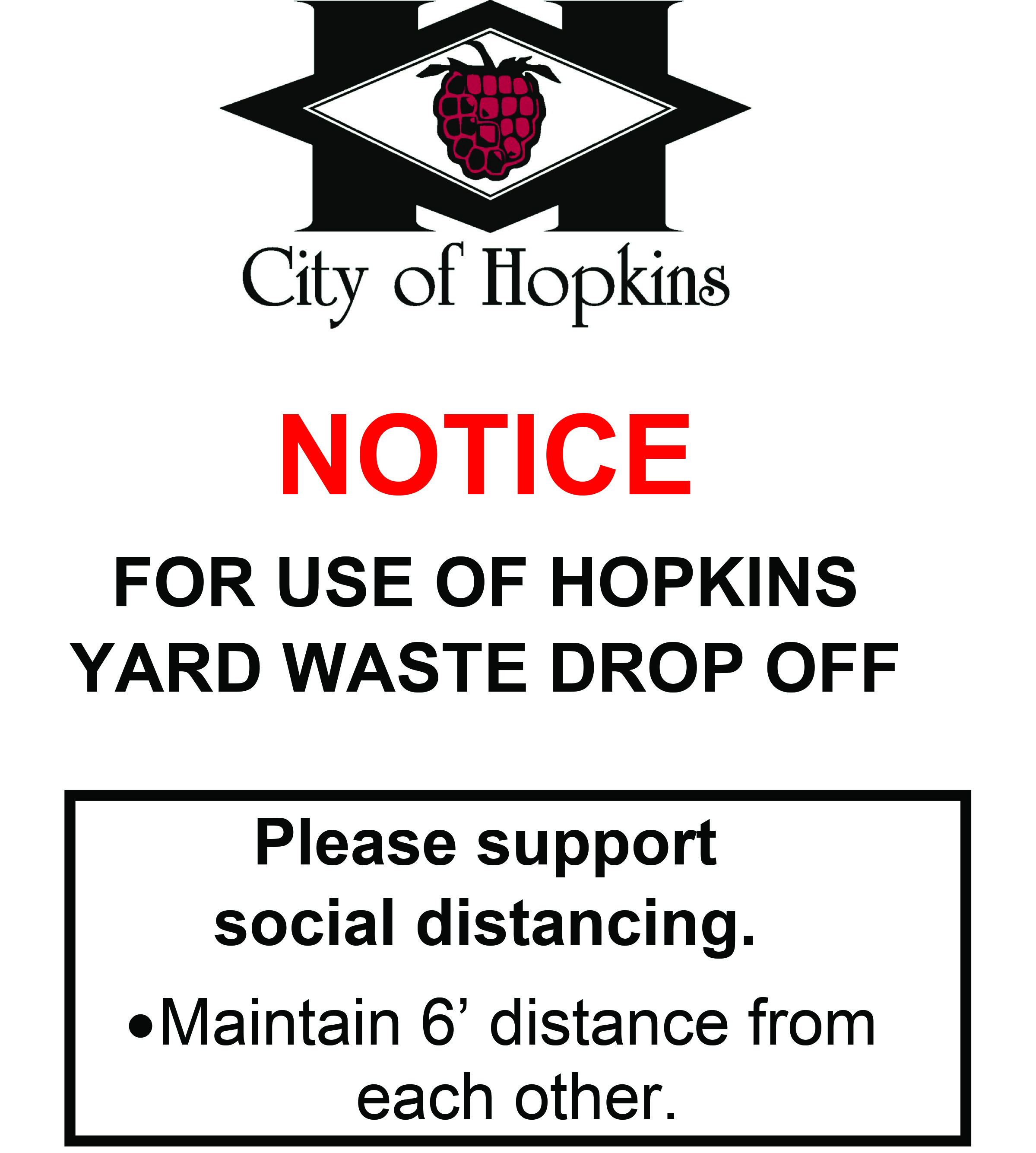 Sign for Yard Waste Drop-Off Site